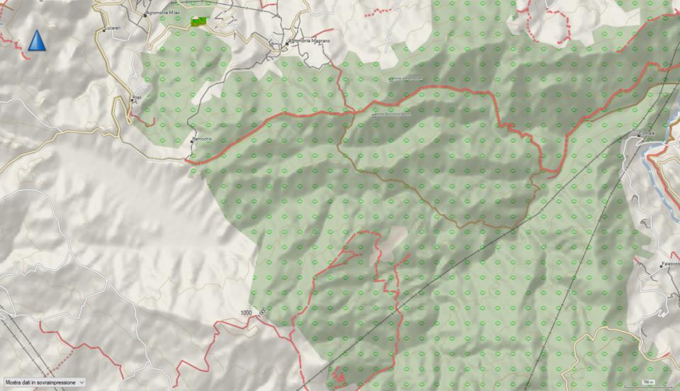 Mappa di OpenStreetMap dei sentieri di Bosco Magnano - Novembre 2019