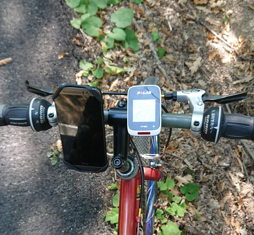 Dispositivi GPS (smartphone, ciclocomputer) per tracciare i sentieri