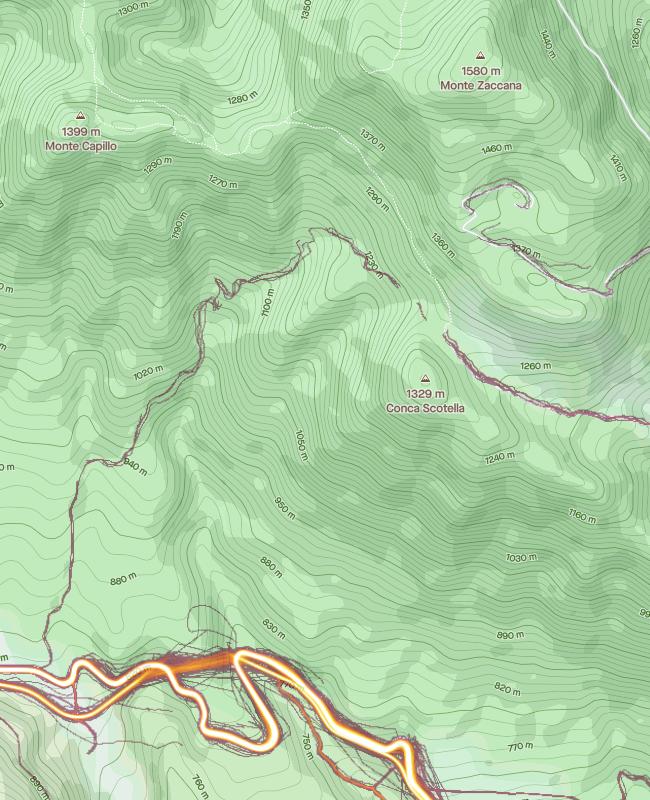 monte zaccana heatmap solo ciclismo